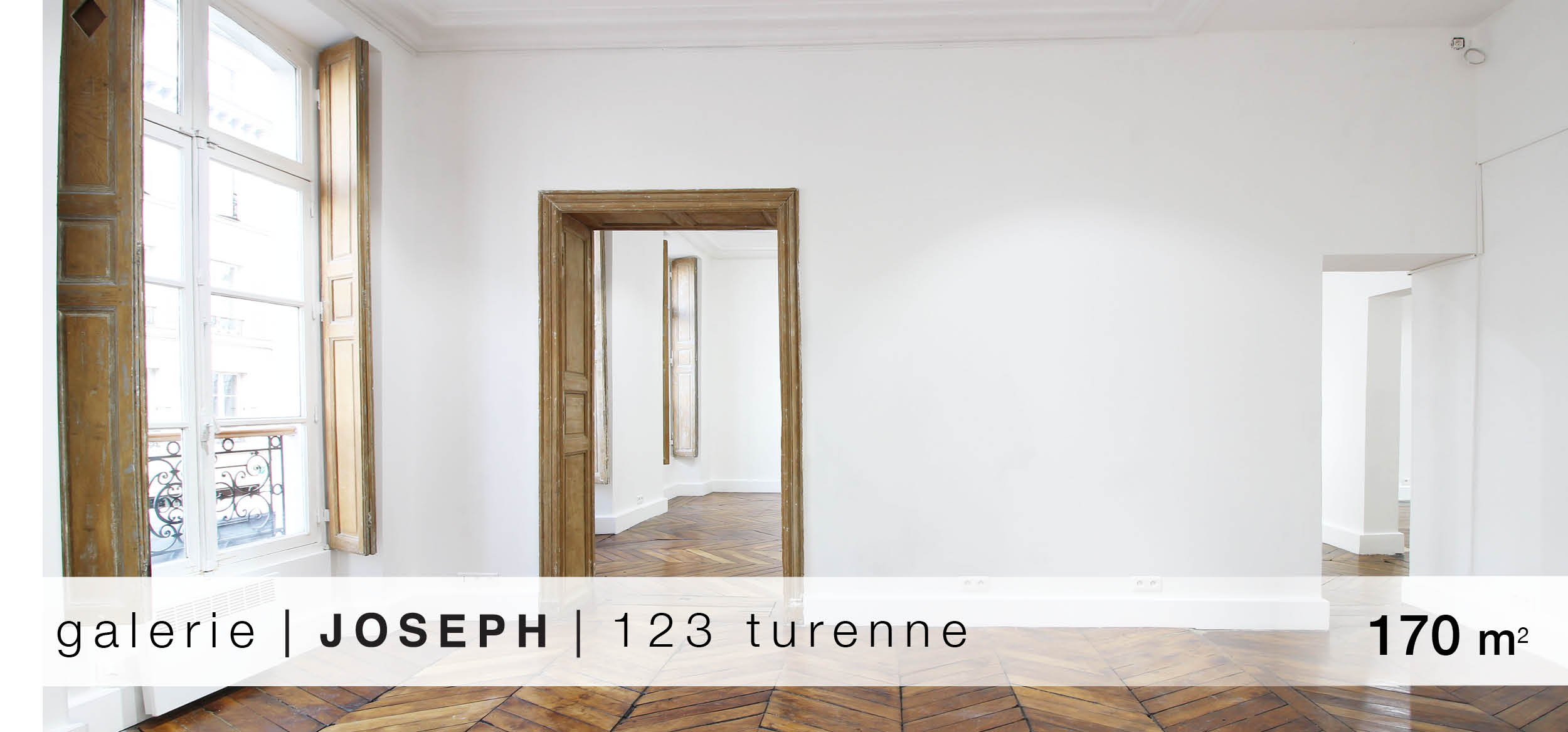 Galerie Joseph 123 Turenne location showroom 123 Turnenne