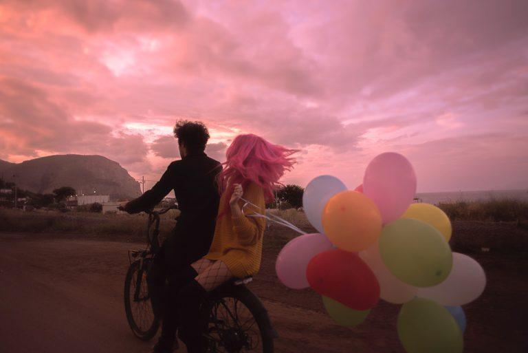 Amoureux à vélo