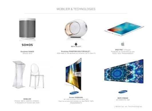 mobilier high tech