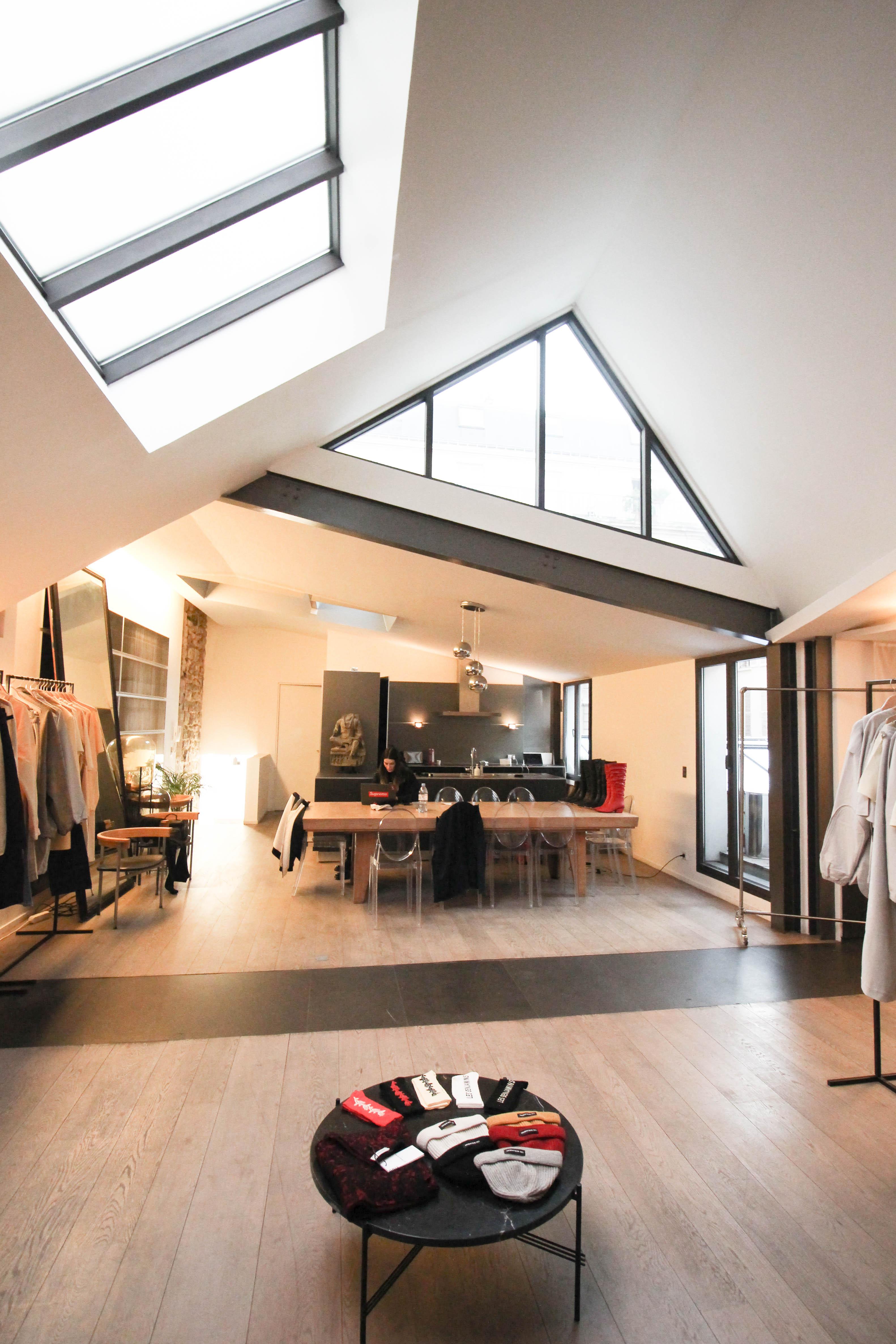 paris fashion week loft tournelles galerie joseph for rent