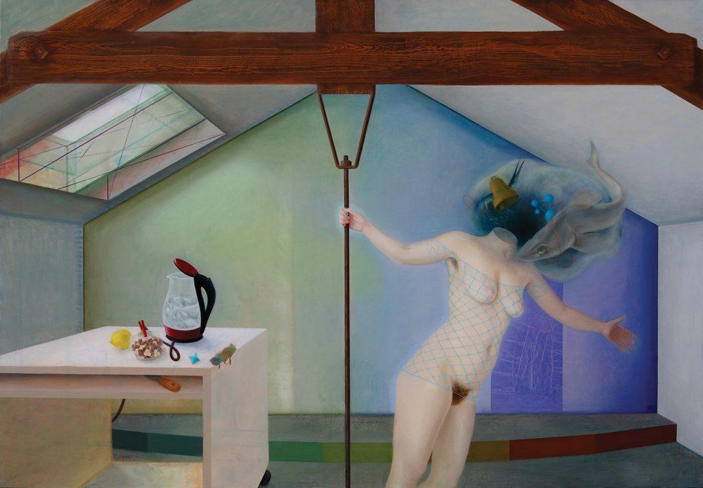 Marion Bataillard, Melancholia ou la rate au court-bouillon, huile sur toile, 170x240 cm ©