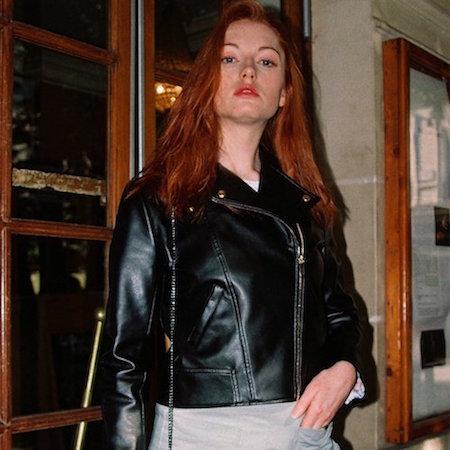 Blouson faux cuir style biker de Poétique Paris